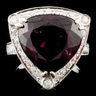 14K Gold 768ct Tourmaline 039ctw Diamond Ring