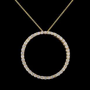 14K Gold 280ctw Diamond Pendant