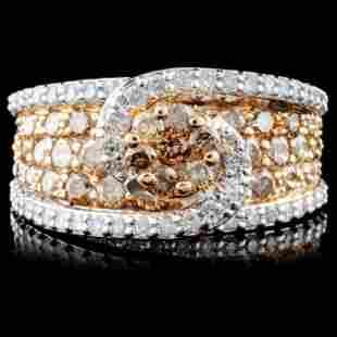 14K Gold 245ctw Fancy Diamond Ring