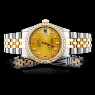 Rolex DateJust YGSS Diamond 36mm Watch