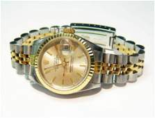 18: Genuine Rolex DayDate Perpetual 18KT Gold & Stainle