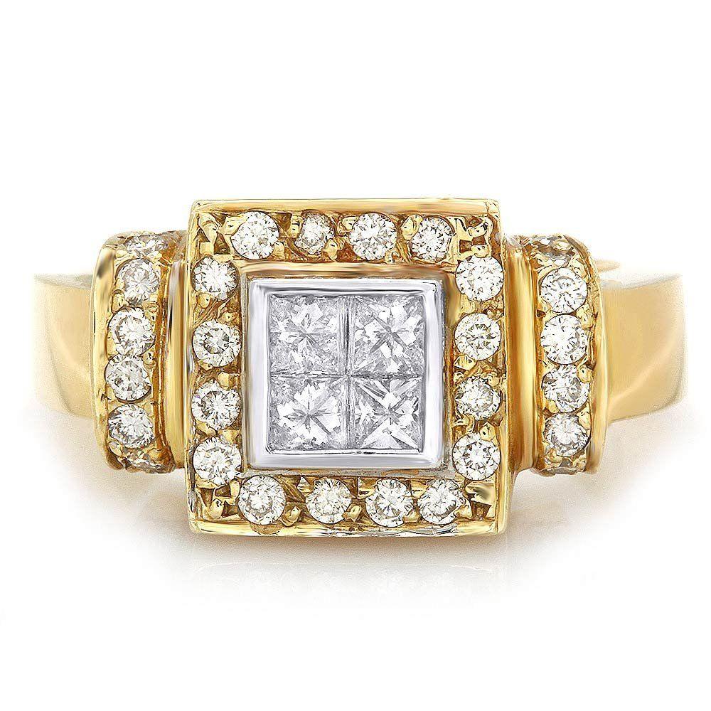 14k Multi-Tone Gold .85ct Diamond Ring
