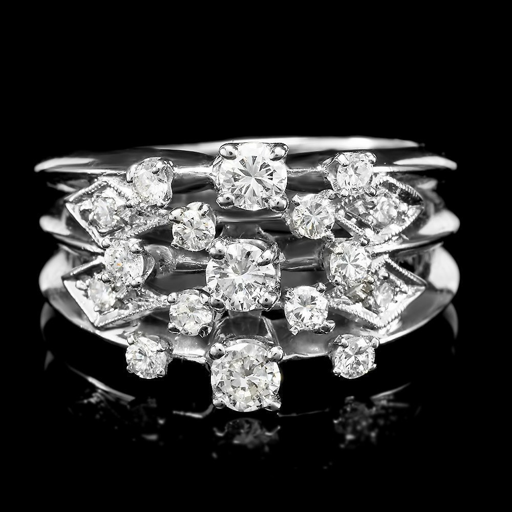 4: 14k White Gold 1.00ct Diamond Ring