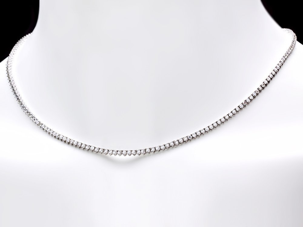 6A: 18k White Gold 6.00ct Diamond Necklace