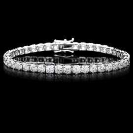 114B: 18k White Gold 9.50ct Diamond Tennis Bracelet