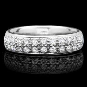 10: 18k White Gold 0.75ct Diamond Ring This magnificen