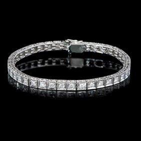 11: 14k Gold Natural 2.50ct G Vs Diamond Bracelet