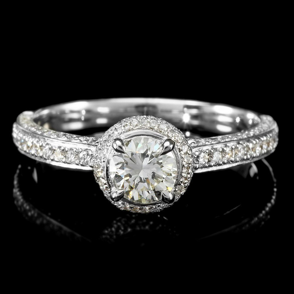 282: 18KT White Gold 1.01ct Diamond Solitaire Ring
