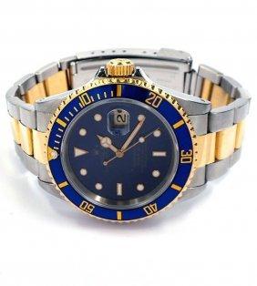 ROLEX 18KT Gold & Stainless Steel Submariner Wristwatch