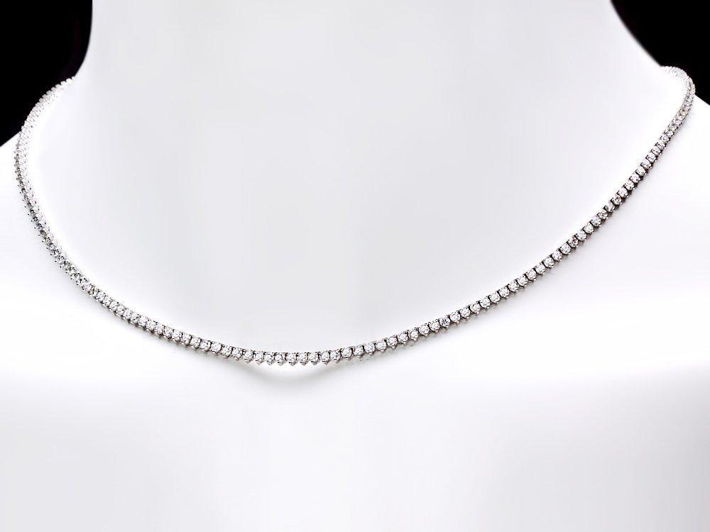 6: 18k White Gold 6.00ct Diamond Necklace