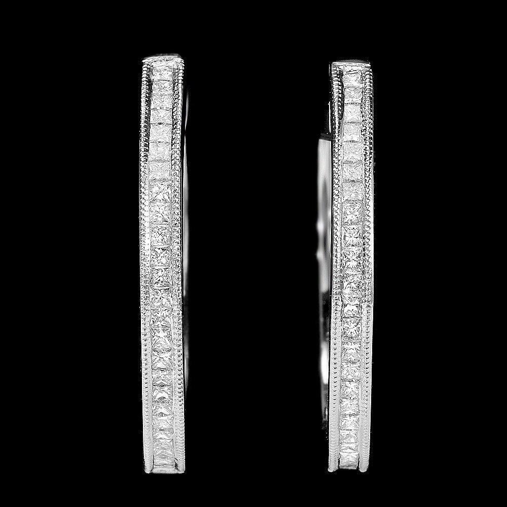 3RN: 14k White Gold 0.70ct Diamond Earrings