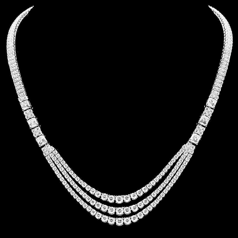 23RN: 18k White Gold 23ct Diamond Necklace