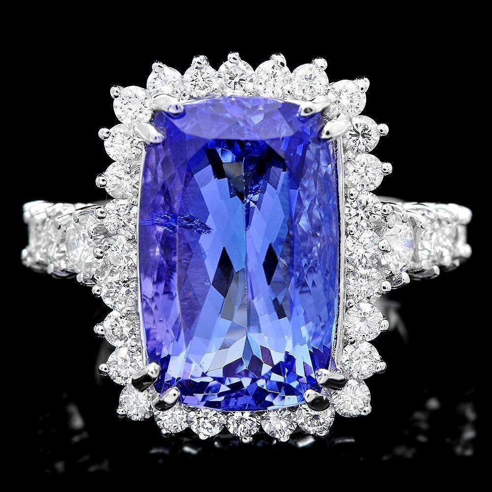 85RN: 18k Gold 11ct Tanzanite 1.80ct Diamond Ring