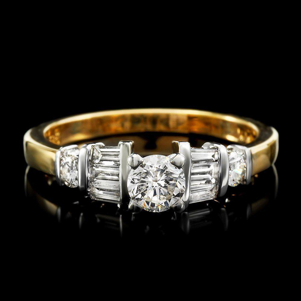 14k Multi-Tone Gold .9ct Diamond Ring
