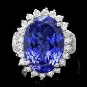18k Gold 14ct Tanzanite 1.50ct Diamond Ring