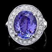 14k Gold 8ct Tanzanite 075ct Diamond Ring