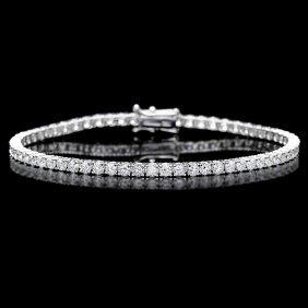 18k White Gold 4.60ct Diamond Bracelet