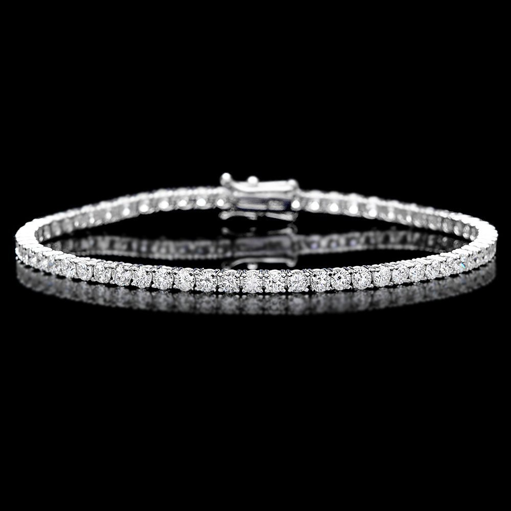 18k White Gold 4.60ct Diamond Bracelet