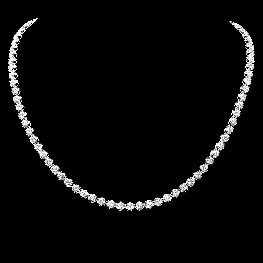 18k White Gold 14.00ct Diamond Necklace