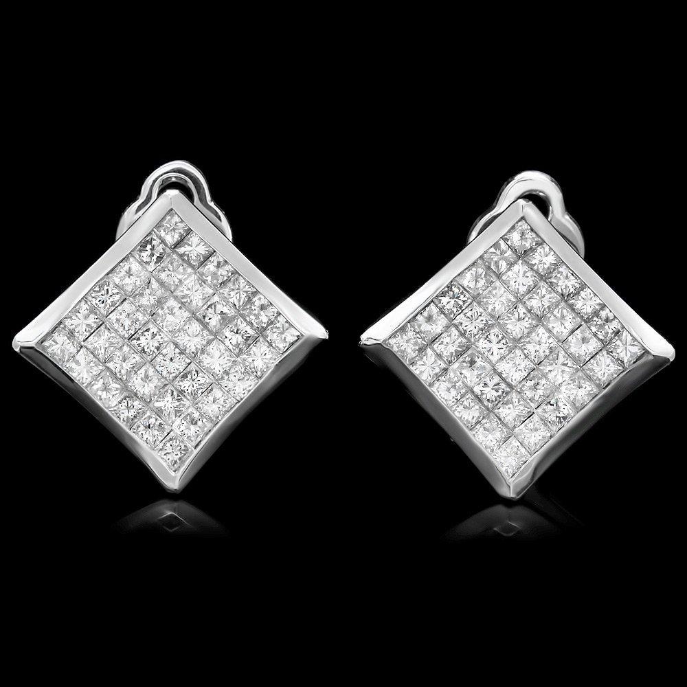 White Gold 3.50ct Diamond Earrings