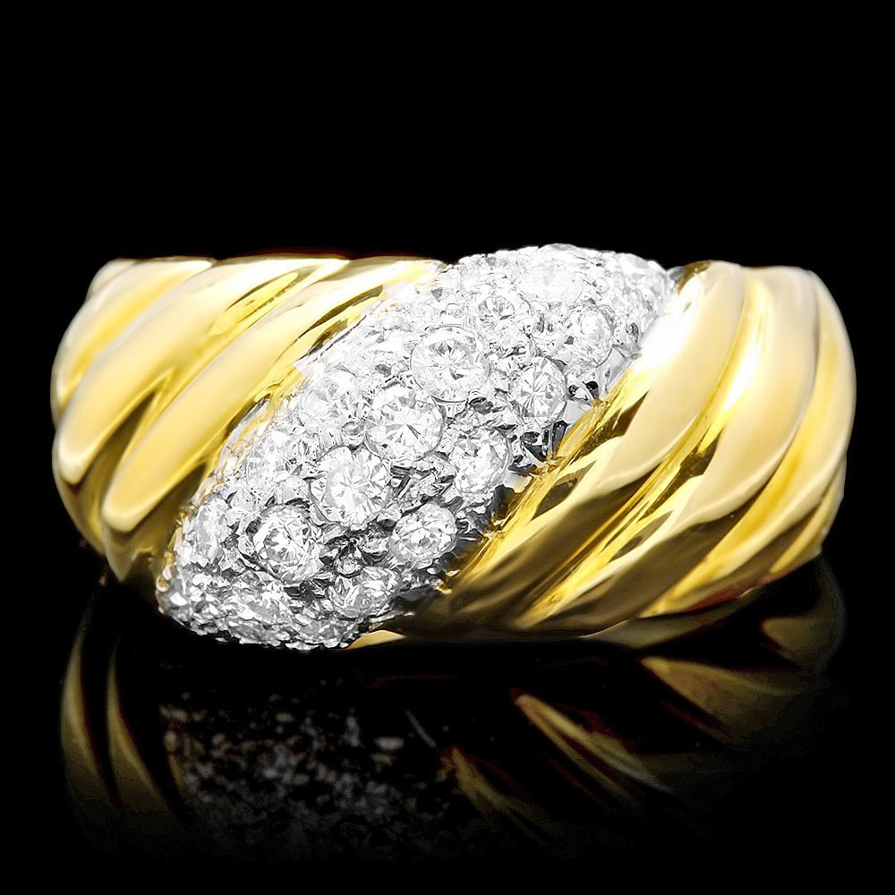 18k Multi-Tone Gold 0.70ct Diamond Ring