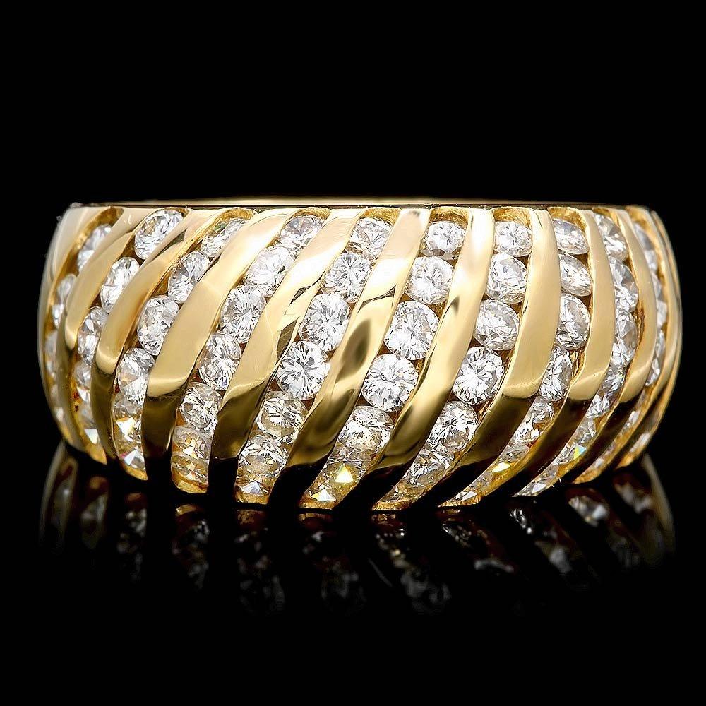 14k Yellow Gold 1.75ct Diamond Ring