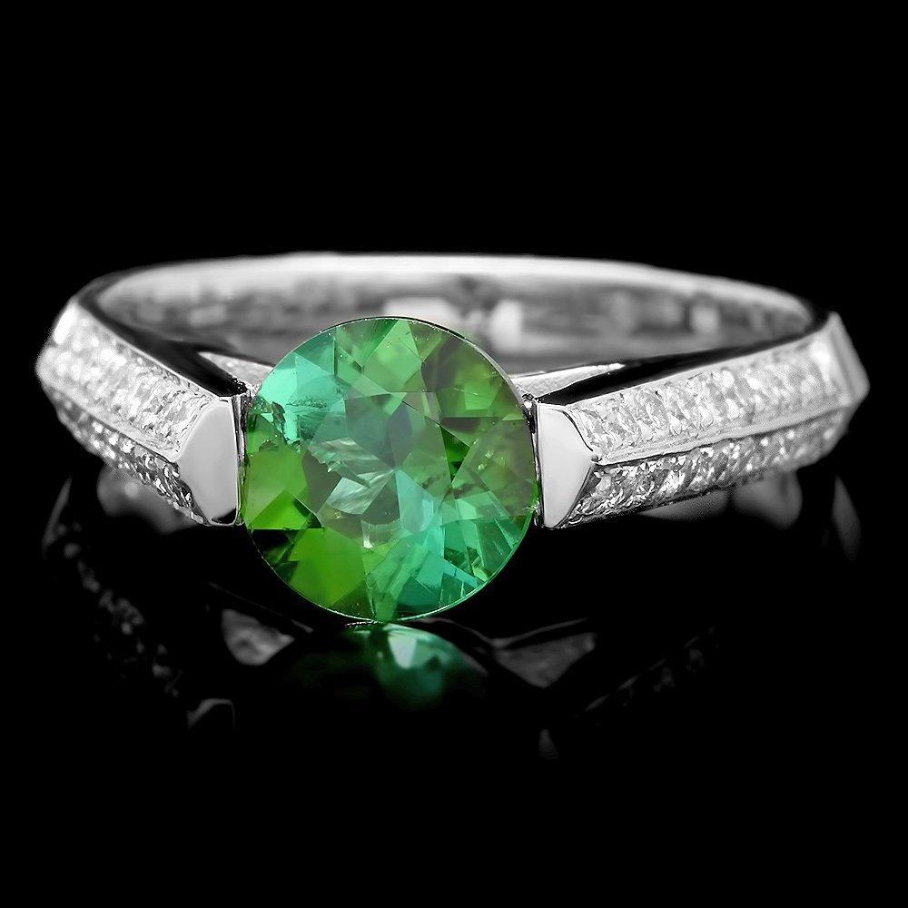 18k White Gold 1.15ct Garnet 0.45ct Diamond Ring