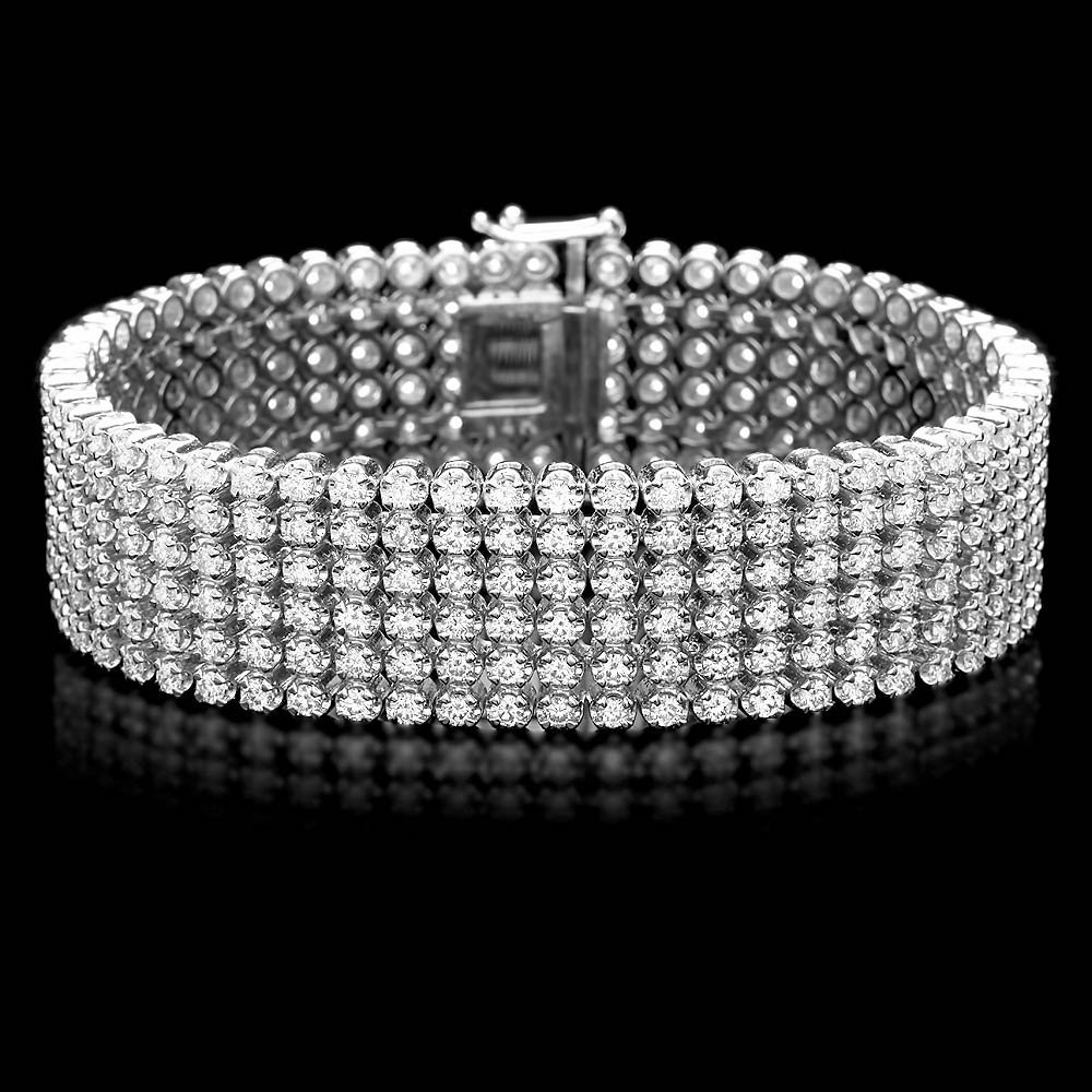 14k White Gold 16.15ct Diamond Bracelet