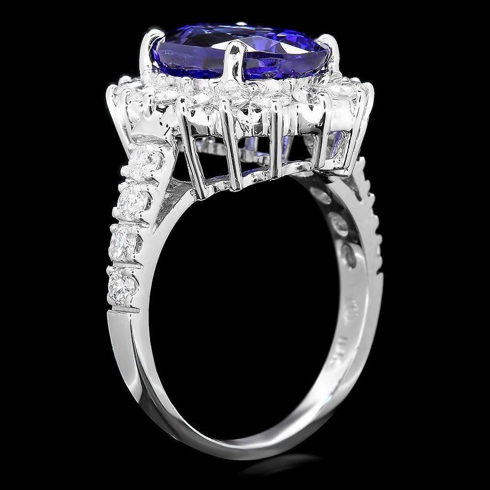 18k Gold 7ct Tanzanite 1.50ct Diamond Ring - 2