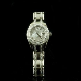 ROLEX 18KT Gold Pearlmaster 4.25ct Diamond Wristwatch
