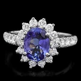 14k Gold 1.70ct Tanzanite 0.90ct Diamond Ring