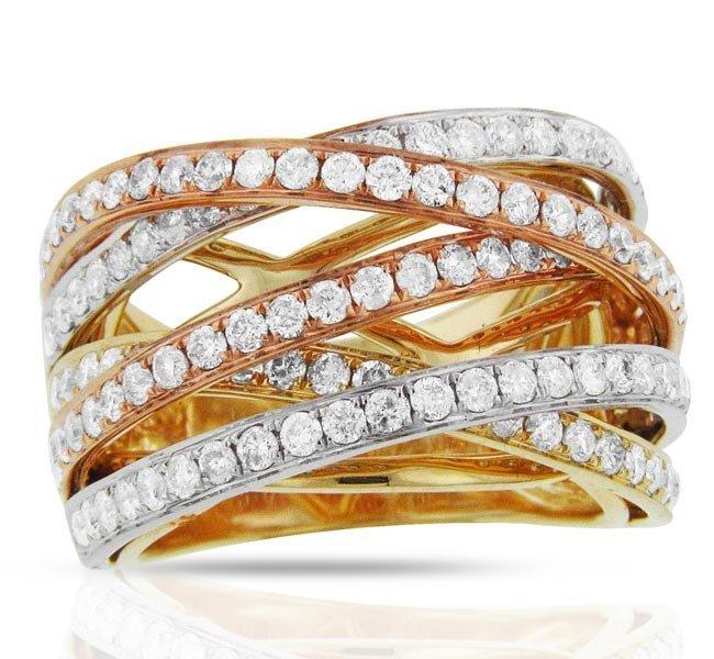 18k Multi-Tone Gold 1.98ct Diamond Ring