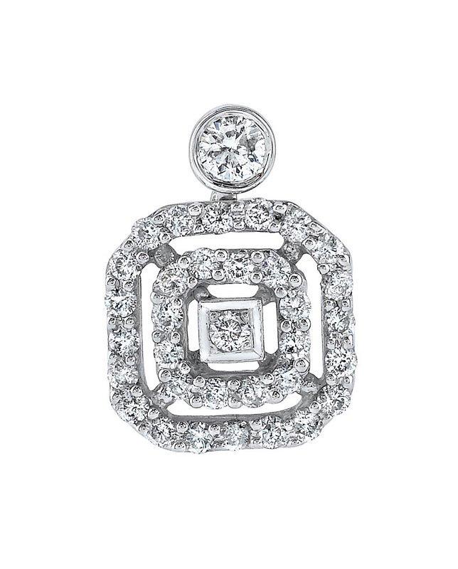 14k White Gold 0.52ct Diamond Pendant