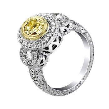 18k Multi-Tone Gold 1.92ct Diamond Ring
