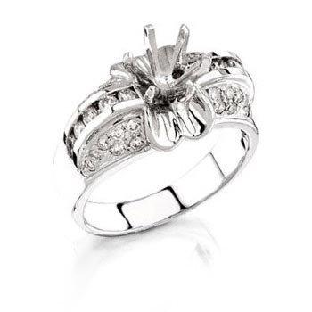 14k White Gold 0.74ct Diamond Ring