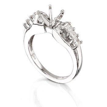 Platinum .5ct Diamond Ring