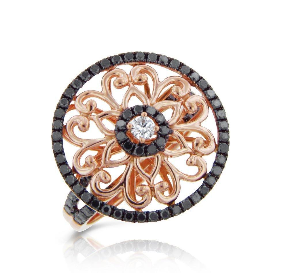 14k Rose Gold .83ct Diamond Ring