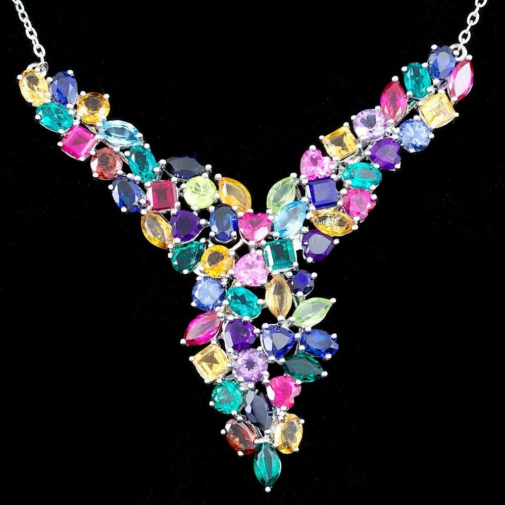 925 Silver Ct Semi Precious Stone Necklace