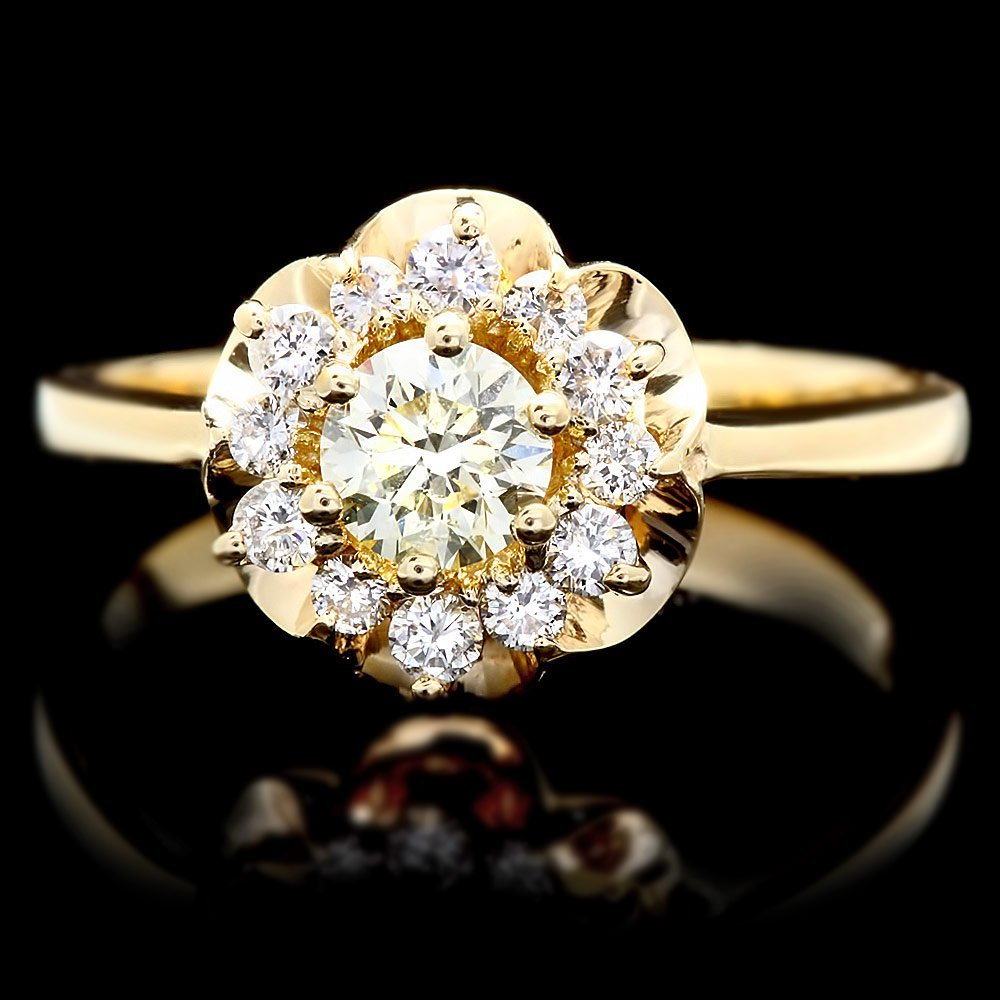 14k Yellow Gold .7ct Diamond Ring