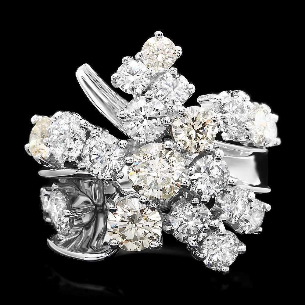 Jaqu De Lili 14k White Gold 5.20ct Diamond Ring