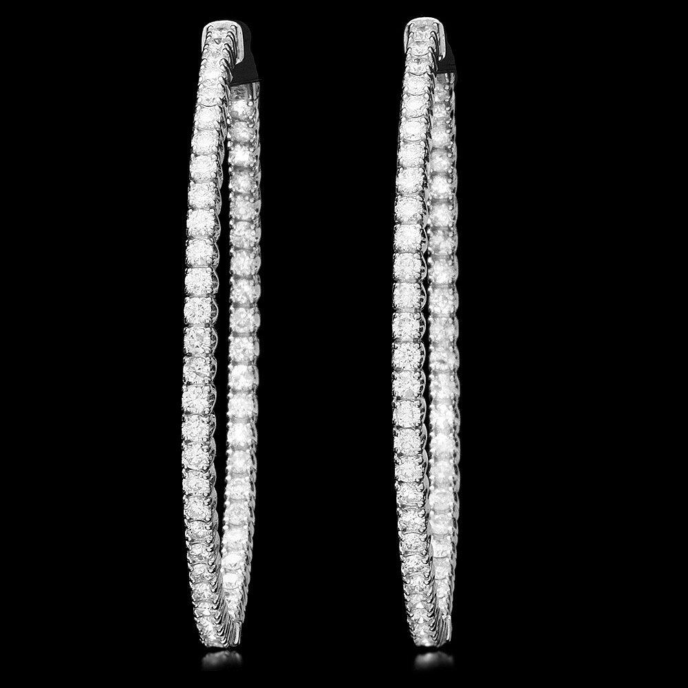 14k White Gold 3.25ct Diamond Earrings