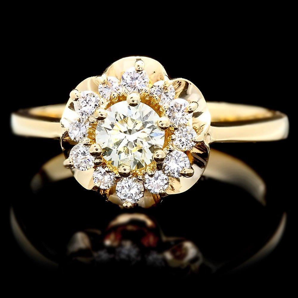 14k Yellow Gold .7ct Diamond Ring