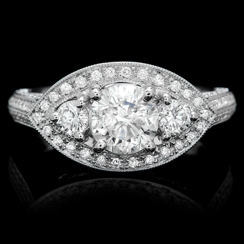 14k White Gold 1.75ct Diamond Ring