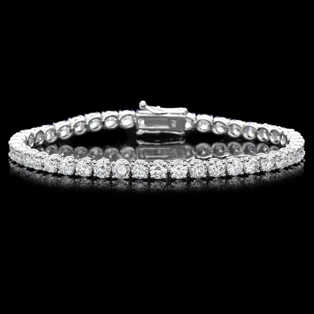 18k White Gold 10.00ct Diamond Bracelet
