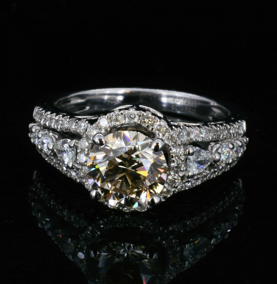 18K Gold, 2.13CT (1.52ct)  Diamond  Ring