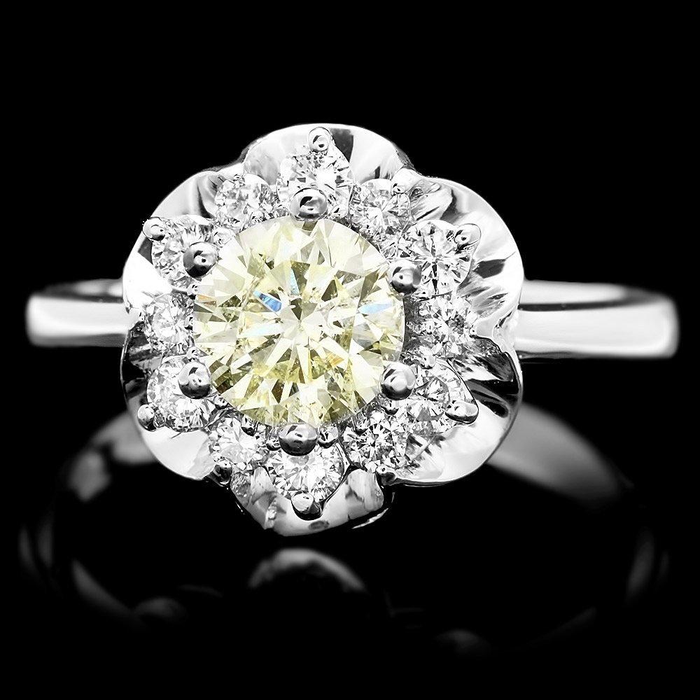 14k White Gold 1.3ct Diamond Ring