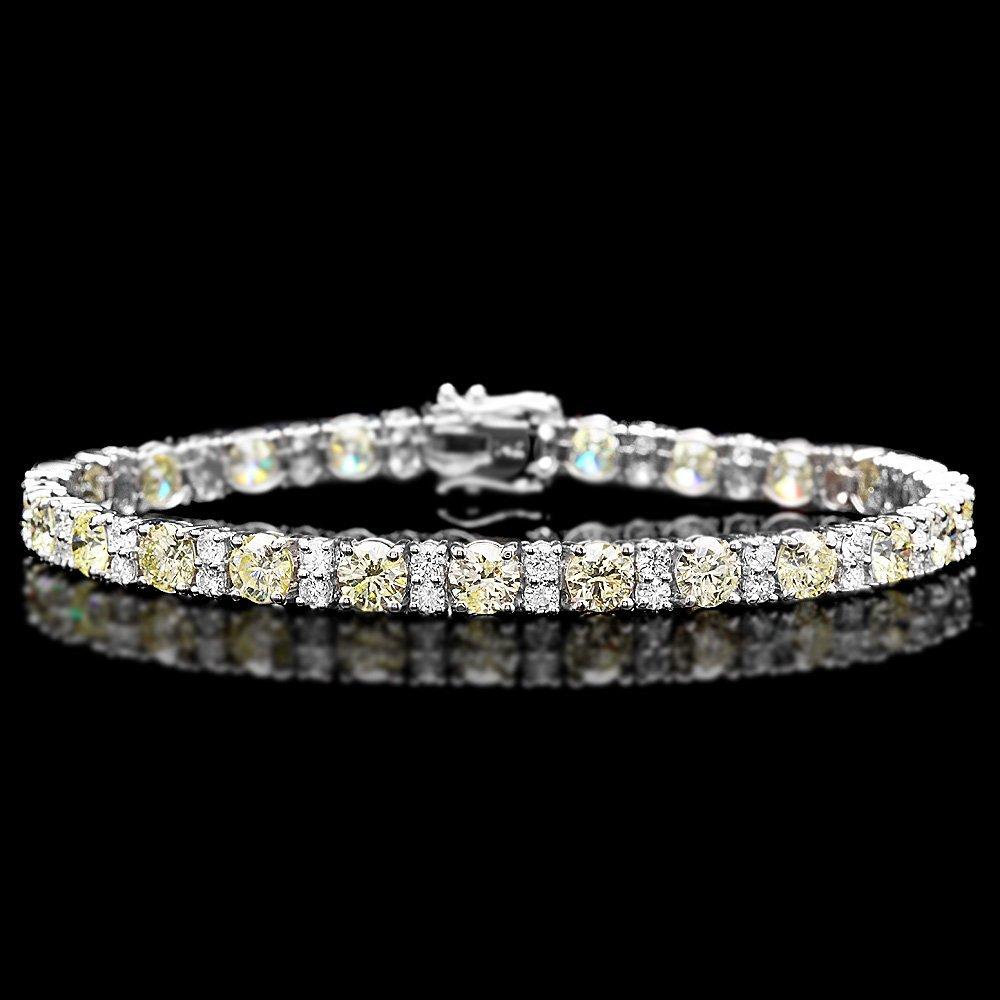 18k White Gold 12.5ct Diamond Bracelet