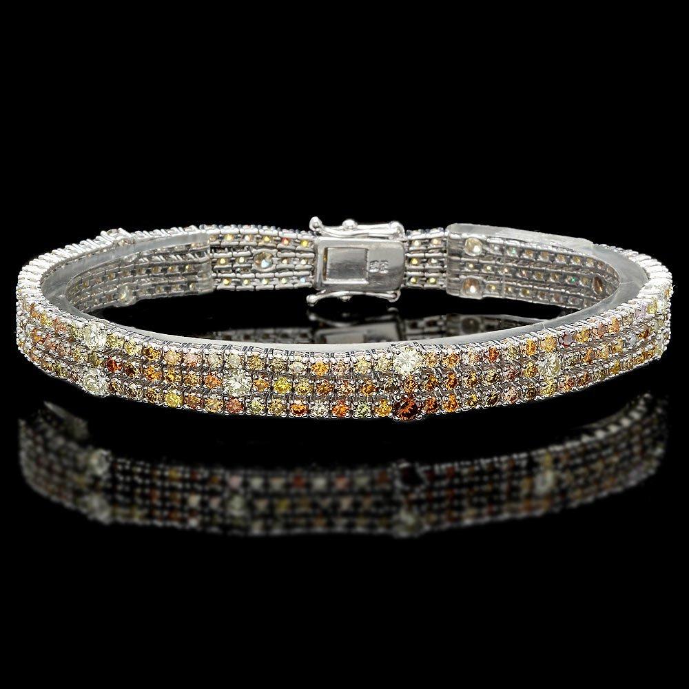 18k White Gold 8.50ct Diamond Bracelet
