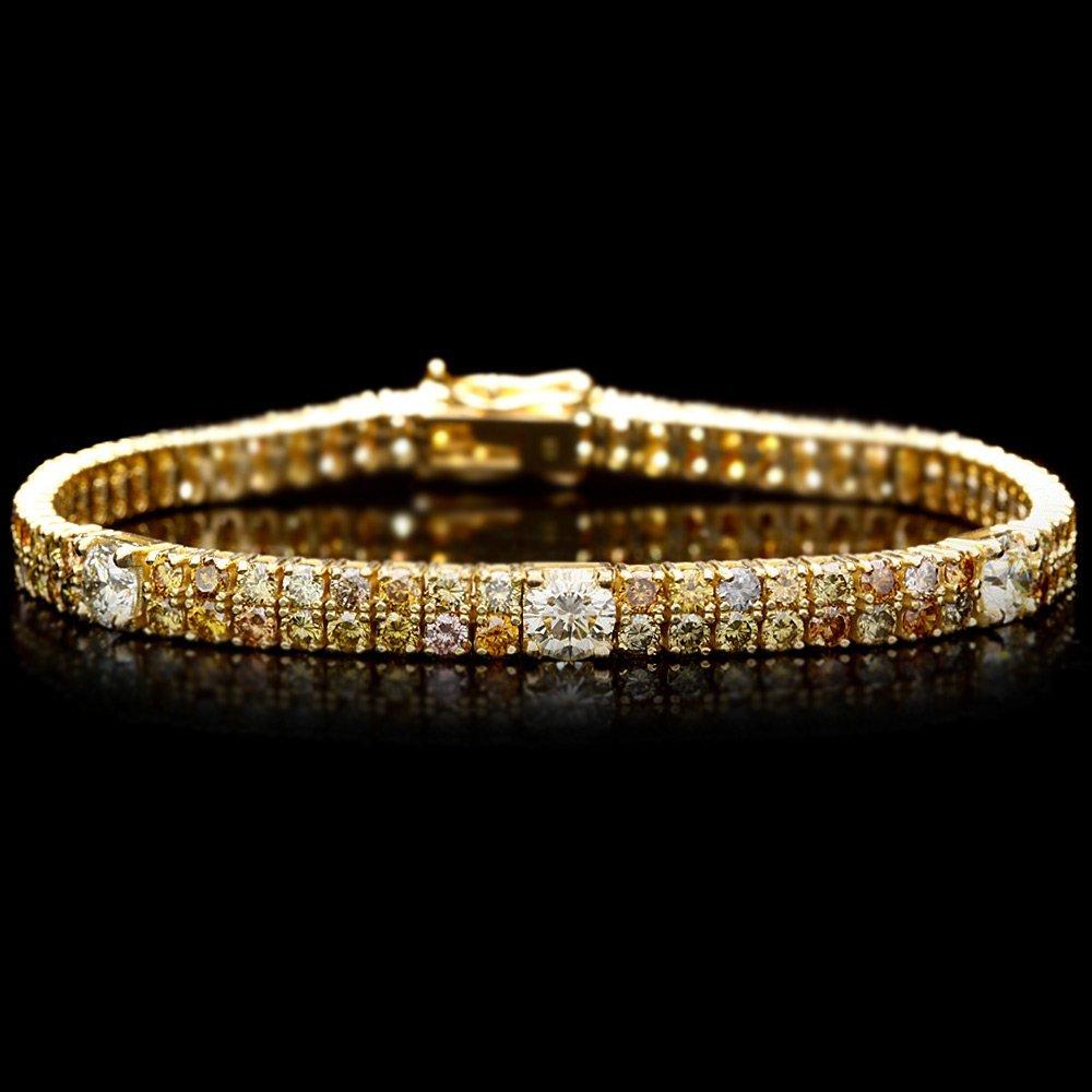 18k Yellow Gold 8ct Diamond Bracelet