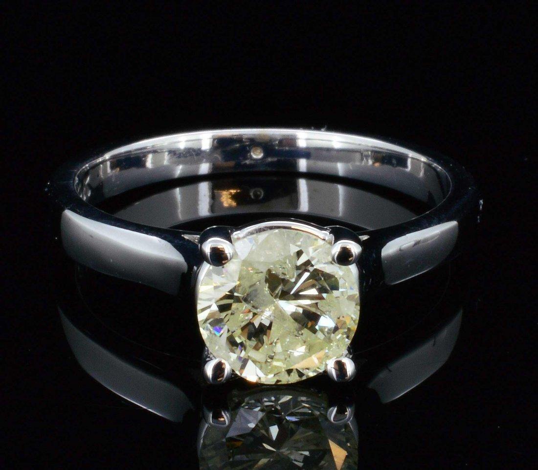 14K Gold, 1.16CT Natural Yellow Diamond  Ring